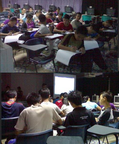 Kelas teori ADG - Hmm... Ada yg tak tumpu perhatian....